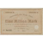 Tilžė. 1923 m. 1.000.000 markių. Serija: D. VF-
