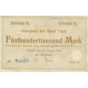 Tilžė. 1923 m. 500.000 markių. Serija: B