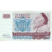Švedija. 1970 m. 100 kronų