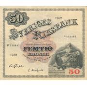 Švedija. 1962 m. 50 kronų