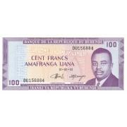 Burundis. 1993 m. 100 frankų. UNC