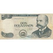Bolivija. 1986 m. 2 bolivianai