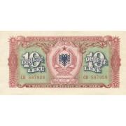 Albanija. 1957 m. 10 leke