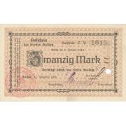 Geldapė. 1918 m. 20 markių. aUNC