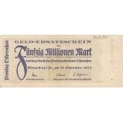 Karaliaučius. 1923 m. 50.000.000 markių
