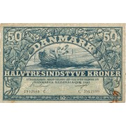 Danija. 1942 m. 50 kronų