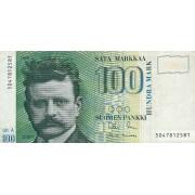 Suomija. 1986 m. 100 markių