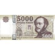 Vengrija. 2016 m. 5.000 forintų. UNC