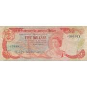 Belizas. 1980 m. 5 doleriai