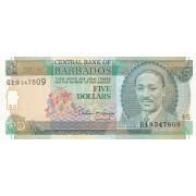 Barbadosas. 1993 m. 5 doleriai. P43