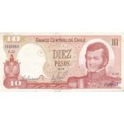 Čilė. 1976 m. 10 pesų