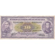 Venesuela. 1988 m. 10 bolivarų