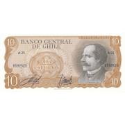 Čilė. 1967-1976 m. 10 escudos. P143. UNC