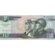 Šiaurės Korėja. 2002 m. 10 wonų. UNC