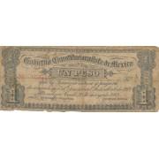 Meksika. 1913 m. 1 pesas