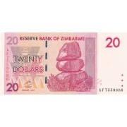 Zimbabvė. 2007 m. 20 dolerių. P68. UNC