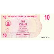Zimbabvė. 2006 m. 10 dolerių. P39. UNC