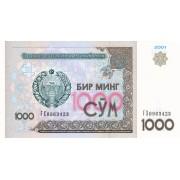 Uzbekistanas. 2001 m. 1.000 sumų. UNC
