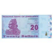 Zimbabvė. 2009 m. 20 dolerių. UNC