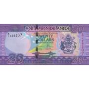 Solomonų Salos. 2017 m. 20 dolerių. UNC