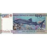 Džibutis. 2017 m. 40 frankų. UNC