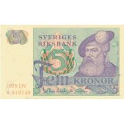 Švedija. 1978 m. 5 kronos. UNC