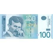 Serbija. 2013 m. 100 dinarų. UNC