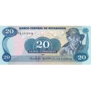 Nikaragva. 1985 m. 20 kordobų. UNC