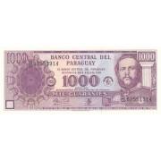 Paragvajus. 2002 m. 1.000 gvaranių. UNC