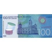 Nikaragva. 2015 m. 100 cordobas. UNC