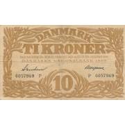 Danija. 1939 m. 10 kronų