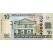 Surinamas. 2012 m. 10 dolerių. UNC