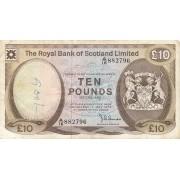 Škotija. 1979 m. 10 svarų
