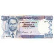 Burundis. 1995 m. 500 frankų. UNC