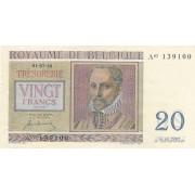 Belgija. 1950 m. 20 frankų. aUNC