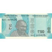 Indija. 2017 m. 50 rupijų. UNC