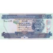 Solomonų Salos. 2012 m. 5 doleriai. UNC