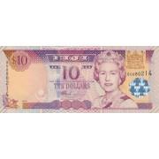 Fidžis. 2002 m. 10 dolerių. UNC