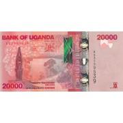Uganda. 2015 m. 20.000 šilingų. P53. UNC