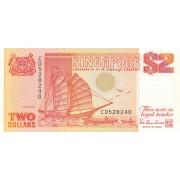 Singapūras. 1988 m. 2 doleriai. P27. UNC