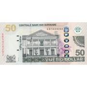 Surinamas. 2012 m. 50 dolerių. UNC