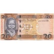 Pietų Sudanas. 2016 m. 20 svarų. UNC