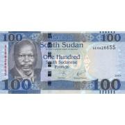 Pietų Sudanas. 2017 m. 100 svarų. UNC