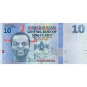 Svazilandas. 2014 m. 10 emalangeni. UNC