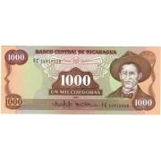 Nikaragva. 1985 m. 1.000 cordobas. P156b. UNC