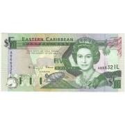 Rytų Karibų Salos. 1993 m. 5 doleriai. UNC