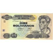 Bolivija. 1986 m. 10 bolivianų. UNC