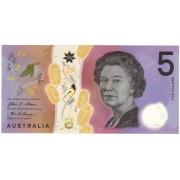 Australija. 2016 m. 5 doleriai. UNC