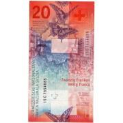 Šveicarija. 2017 m. 20 frankų. UNC