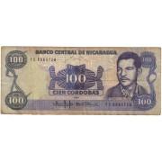 Nikaragva. 1985 m. 100 kordobų